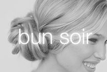 Bun Soir / Make a statement that's swoon-worthy! With this elegant, side-swept bun, you're sure to be the belle of the ball.