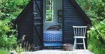 Abrigos & estúdios no jardim / Ideias para abrigos e espaços de escritório no jardim.