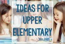 Ideas for Upper Elementary / Upper Elementary lesson plans, ideas, and resources for math, language, word work, and more! Fantastic 3-5 activities and interventions.