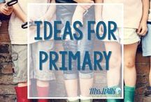 Ideas for Primary Teachers / Primary teachers lesson plans, ideas, and resources for math, language, word work, and more! Fantastic K-2 activities and interventions.