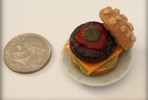 Polymer Clay Miniature Creations - my own artwork :) / Miniature clay food items. Been kind of obsessed with making them...the smaller the better! Can be made into jewelry or used in doll houses, etc. Tons more to post...just working on the photos!