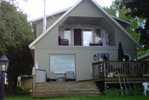 Cottage Reno / Added 2nd story to cottage and created a pine cabin upstairs with lakeside balcony!