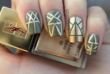 Taped Nails / Taped nails inspiration.