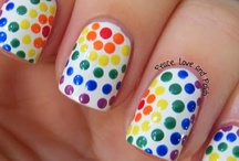 Dotted Nails / Dotted nails inspiration. Do check out my other nail boards: Taped, stamped, misc. and holiday nail inspiration