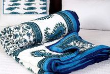 Jaipuri Quilt / The hugely popular Jaipuri cotton quilts or Jaipuri razais have come to symbolize the unique and distinguished home furnishings from Rajasthan. #Quilts #Jaipuri / by Rajrang