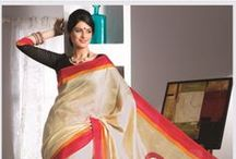 Saree / Saree is one of the most effeminate and brings out the real charm of a lady.  / by Rajrang