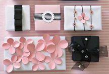 Wrapping Presents / Envolviendo regalos / #wrapping presents #envolviendo regalos #regalos originales #wrapping ideas / by Mariana Diaz