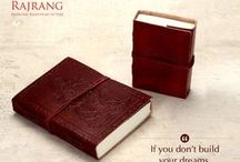 Diaries / Keep your records and events safe and accurate in the craft play special binded book print handmade diary.  / by Rajrang