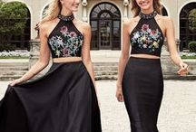 Crop Top Gowns / Crop top or 2 piece dresses perfect for prom, homecoming or any special occasion.   View all of our dress collections at http://www.alyceparis.com
