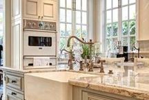 LG Limitless Design / My dream kitchen is all creamy whites, built in ovens, country lighting and cabinets all the way to the ceiling