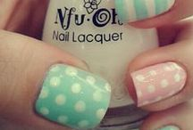 Pastel Nails / Pastel nails are so versatile all year round - bright and summery for spring/summer and just enough to keep you cheerful when you're in your chunky knits for winter