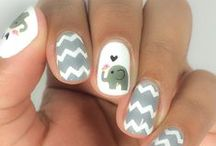 Cute Nails / These designs are so adorable! Just goes to show that you can embrace absolutely anything via your nails!