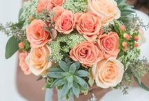 .. Coral Florals .. / Coral wedding flowers.   / by Botanica Events
