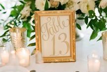 .. Table Numbers + Signs .. / Table numbers and signs for your wedding.   / by Botanica Events
