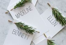 .. Escort Cards + Displays .. / Escort cards and table displays to get you inspired for your wedding.   / by Botanica Events