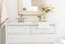Eco White Decor Ideas / All these white decor ideas can be done with recycled, reclaimed, reused, antique or vintage pieces. Don't forget the Low VOC paint or finishes. Ask your paint store or check http://www.c2paint.com/