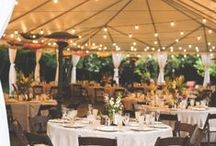 Tent Weddings / Gorgeous inspiration for your tented wedding, from styles of tents, to decorating tents, to lighting.