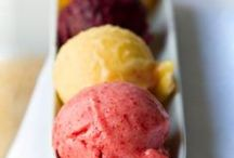 ~Sorbets & Granita~ / Sorbets are so good to eat when it is so hot outside as well as granitas.