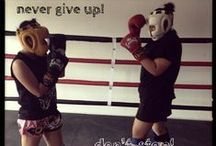 Muay Thai and Work outs / I started to have Muay Thai training, learn to respect others even my enemy, but keep my spirit on fighting. And a good exercise too since I need to shaped up my bods.