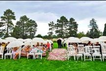 Our Real Events / Events and Weddings showcasing our products - rental and purchase!