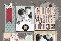 Layout Inspiration | C&S / Scrapbooking Scrapbook Layout Page Clean Simple / by Armance Scrap