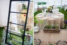 Rustic Weddings / Rustic inspiration and ideas for planning your wedding. Whether its in a barn, or outdoors in a tent, here are our favorite rustic styles.