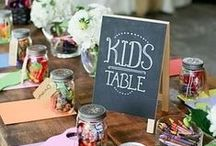 Kids at Weddings / Tips and ideas for making your littlest wedding guests feel special. As well as occupying them so their parents can have a good time!