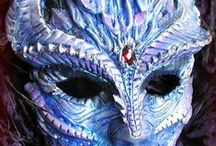 Masks / Beautiful Harlequin masks, Venetian masks, Mardi Gras masks, and some that are grotesquesly lovely