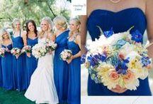 Blue Wedding Color Palettes / Color palette ideas for planning your wedding around the color blue.