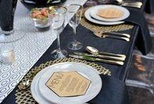 Black Wedding Color Palette / Black wedding color inspiration.