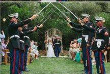 Military Weddings / Military wedding inspiration