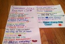 Summer Bucket List / Surviving summer with my teens - super easy stuff to do or make!  #teaching teens
