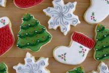 Christmas Cookies / How to videos for frosting sugar cookies, Christmas Cookie  Plates for neighbors, Cookie Exchange Recipes