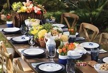 Outdoor Entertaining / Whether you host a fabulous fete outdoors, or bring a bit of nature to your dining room, your table will be blooming with beauty!