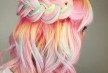 Cabelos Coloridos / Cabelos coloridos e cores fantasia. Hair color and fantasy color #hairtrend