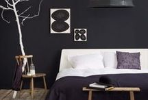 ++ HOME + MASTER BEDROOM ++ / This board is inspiration for the style / color of furniture we are hoping to purchase in the near future as we redesign our house to incorporate a black / white theme throughout.  / by Cherie Edwards