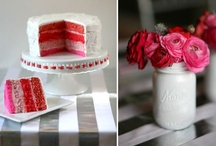 ++ PARTY + PINK AND RED ++ / This board is dedicated to all things pink and red... have always loved this colour combination... / by Cherie Edwards