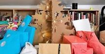 CHRISTMAS DECORATION CARDBOARD  | DECORACIÓN NAVIDEÑA EN CARTÓN / Christmas decoration made out cardboard. Christmas trees, reindeers, nativity scenes, decoration for events, mall centres, train stations.