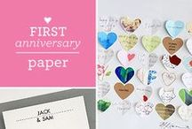 Anniversary Gifts / Anniversary gifts by year--both traditional and modern! / by Cardstore