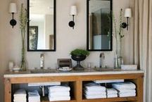 Bathroom Organization and Storage / We have some great ideas on how to get organized in the bathroom. Not sure how to best store your towels? What kind of shelving would be most efficient in small bath ? Follow this board for awesome plans on keeping your bathroom organized !