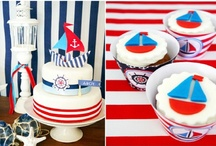 Nautical - Red, White and Blue Party Ideas / Nautical, boats, maritime, sea party ideas with supplies, printables, decorations and DIY for birthdays, showers, baby showers, school events, holidays, weddings or parties / by Bird's Party