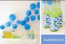 Bubbles Party Ideas / Party ideas with theme of BUBBLES birthday party ideas with printables, recipes, party crafts, DIY and party games and activities for birthdays, weddings, holidays, showers or seasonal events and celebrations.