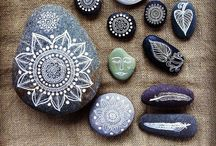 Painted Rocks & Stones  / Designs To Paint On Rocks / by Stephanie Smith