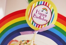 Rainbow Party Ideas / Rainbow inspired and colored themed party ideas with supplies, printables, decorations and DIY for birthdays, showers, baby showers, school events, holidays, weddings or parties / by Bird's Party