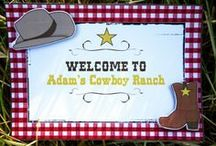 Cowboy Birthday Party Ideas / Cowboy birthday party ideas with printables, recipes, party crafts, DIY and party games and activities / by Bird's Party