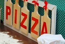 Pizza Party Ideas / Pizza inspired party ideas with supplies, printables, decorations and DIY for birthdays, showers, baby showers, school events, holidays, weddings or parties