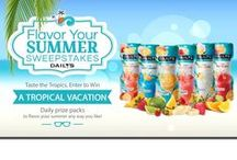 Flavor Your Summer / Our sweepstakes may be coming to an end, but summer is not over yet! Savor every second of July and celebrate in style by rounding up your favorite Daily's Tropical Pouches. Enter for a chance to win a tropical Grand Prize Trip for Two to the Bahamas or enter daily for flavorful, fun daily prizes! http://dailyscocktails.com/promotions #FlavorYourSummer / by Daily's Cocktails