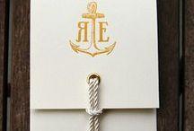 Nautical Wedding / Nautical wedding inspiration. Navy and stripes.