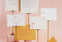 In springtime... / Pink, gold, and blush wedding inspiration.