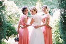Southern Charm Wedding / Southern Wedding Elegance in peach, coral, and pink.